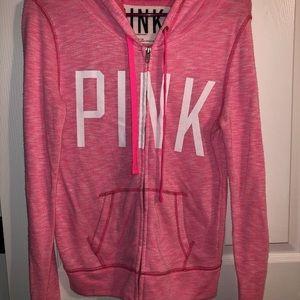 Victoria secret pink zip up sweatshirt